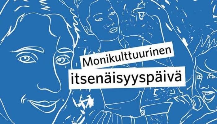 Monikulttuurinen itsenäisyyspäivä logo.